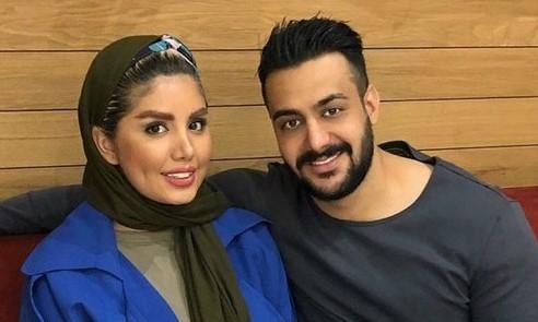 نگین عابد زاده و همسرش