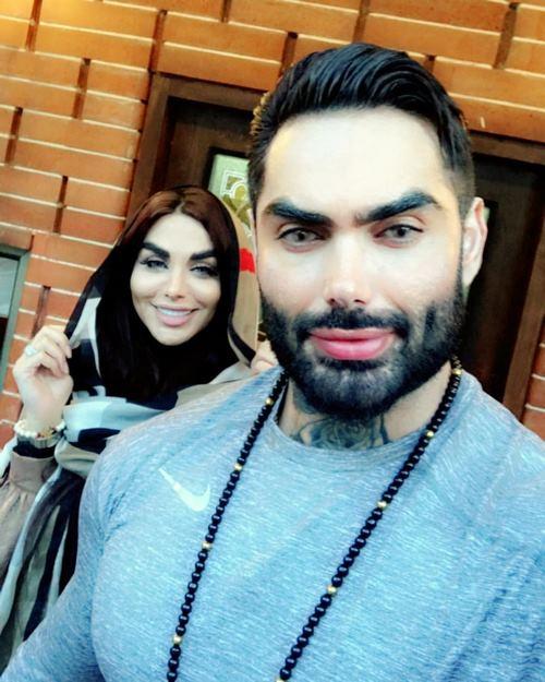 سامان قاسم زاده و همسرش