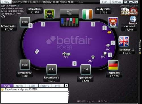 بازی پوکر در سایت Betfair